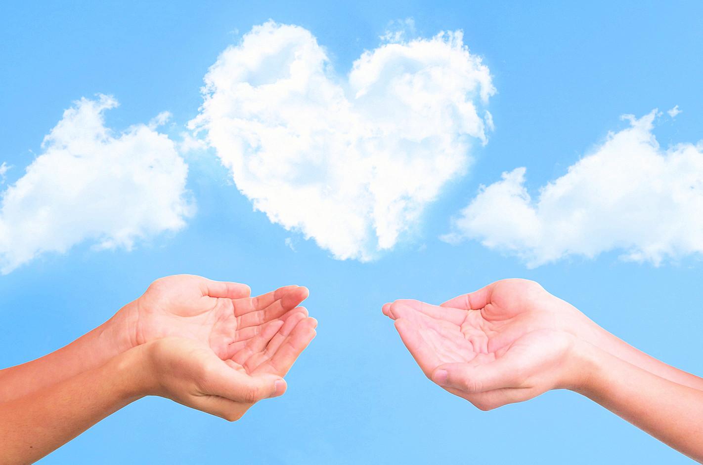 感謝の循環を起こしているレイキエネルギーの雲