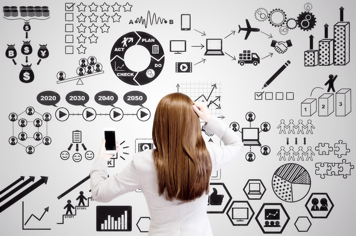 SNSで情報発信する女性起業家